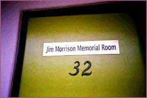 Jim Morrison's room at the Alta Cienega