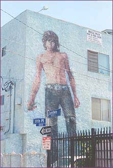 Venice Beach mural depicts Jim Morrison in his leather pants and concho belt